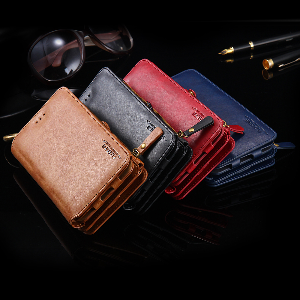 Floveme Leather Wallet IPhone Case